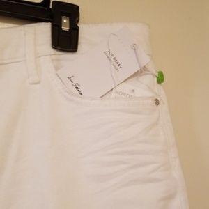 Sam Edelman Shorts - Distressed white raw edge Bermuda shorts 16/33